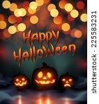 halloween vector illustration. | Shutterstock .eps vector #225583231