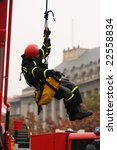Rescue Worker In Action In The...