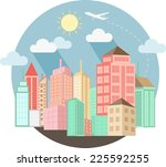 cityscape design with summer | Shutterstock .eps vector #225592255