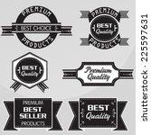 vintage premium quality labels... | Shutterstock .eps vector #225597631