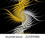 Decorative Fractal Yellow Whit...