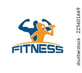 man and woman of fitness... | Shutterstock .eps vector #225601669