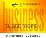 business customers illustration on a flaming background (part of set on similar business themes) - stock photo