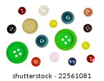 buttons on a white background | Shutterstock . vector #22561081
