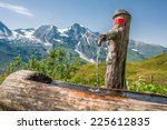 Water Tap In A Wooden Stump In...