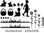 Silhouette Of Easter Scene With ...