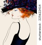 Woman Fashion Model With Hat  ...
