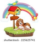illustration of a dog sitting