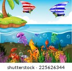 illustration of a beautiful... | Shutterstock .eps vector #225626344