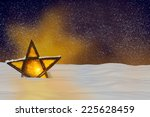 shining christmas star at night ... | Shutterstock . vector #225628459