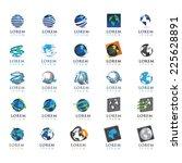 globe icons set   isolated on...