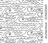 sea pattern black and white | Shutterstock .eps vector #225632065