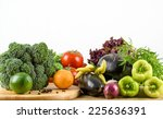 assortment of fresh vegetables  | Shutterstock . vector #225636391