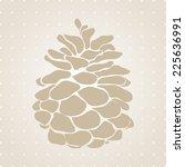pine cone christmas tree of big ... | Shutterstock .eps vector #225636991