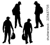 vector silhouette of a man on a ... | Shutterstock .eps vector #225637735
