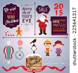 set of labels and elements for... | Shutterstock .eps vector #225641317