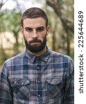 hipster man portrait outdoors.... | Shutterstock . vector #225644689