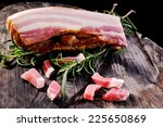 whole piece of bacon  ready to...   Shutterstock . vector #225650869