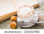 cappuccino coffee with muffins | Shutterstock . vector #225652984