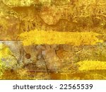 background.  ancient fresco with the drawn figures of people - stock photo