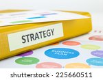 binder of strategy documents... | Shutterstock . vector #225660511
