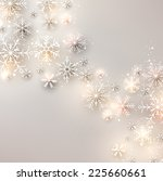 winter background. glowing...   Shutterstock .eps vector #225660661