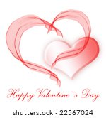 a pair of symbolic pink hearts... | Shutterstock . vector #22567024