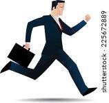 business man running. | Shutterstock .eps vector #225672889