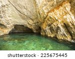 blue caves  inside  on...   Shutterstock . vector #225675445
