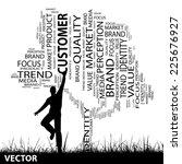 vector concept or conceptual... | Shutterstock .eps vector #225676927