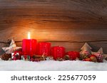 christmas decoration with... | Shutterstock . vector #225677059