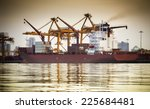 container cargo freight ship... | Shutterstock . vector #225684481