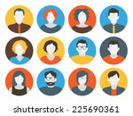 collection of characters  ... | Shutterstock .eps vector #225690361