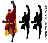 superhero flying 2  flying... | Shutterstock .eps vector #225697189