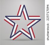 abstract star made from ribbon | Shutterstock .eps vector #225717094