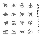 simple set of planes related... | Shutterstock .eps vector #225729439