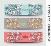 set of varicolored line... | Shutterstock .eps vector #225733711