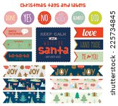 vintage christmas and new year... | Shutterstock .eps vector #225734845