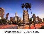 downtown los angeles skyline... | Shutterstock . vector #225735187