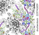 floral seamless pattern with... | Shutterstock .eps vector #225741859