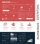 red ui kit for designing... | Shutterstock .eps vector #225747241