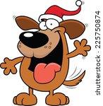 cartoon illustration of a dog... | Shutterstock .eps vector #225750874