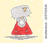santa claus and sheep | Shutterstock .eps vector #225753535
