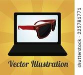 sun glasses illustration over... | Shutterstock .eps vector #225781771