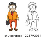 character of businessman vector ... | Shutterstock .eps vector #225793084