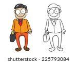 character of businessman vector ...   Shutterstock .eps vector #225793084