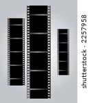 a set of three black films... | Shutterstock .eps vector #2257958