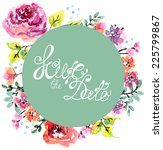 watercolor floral frame for... | Shutterstock .eps vector #225799867