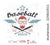 emblem baseball superstar... | Shutterstock .eps vector #225810511
