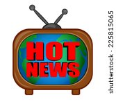 tv news  | Shutterstock .eps vector #225815065